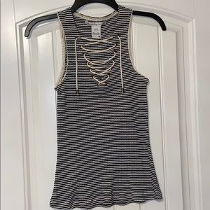 NEVER WORN Lace up Tank Top